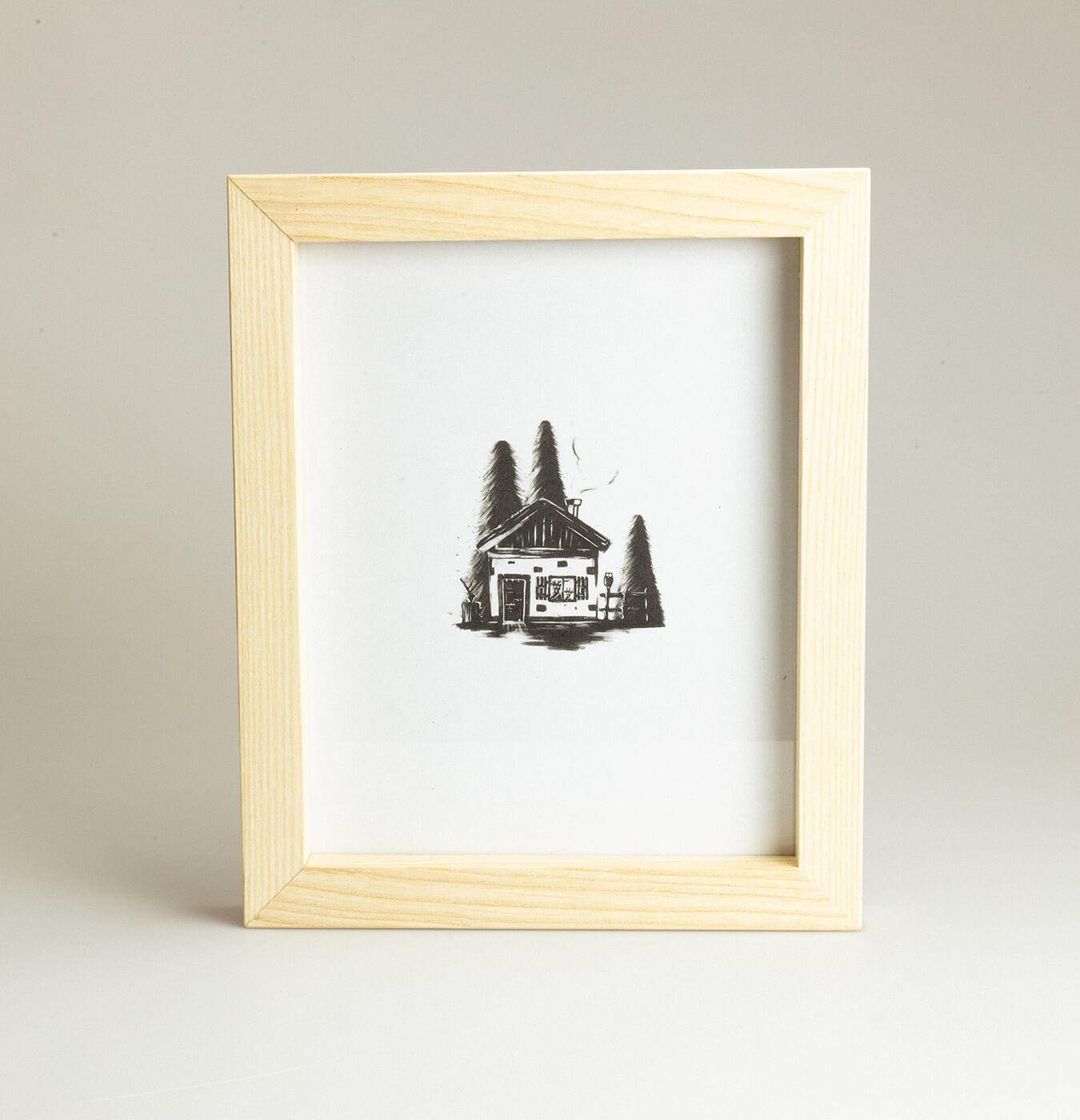 Cornice portafoto in legno massello di frassino