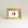 Cornice portafoto in legno massello di noce