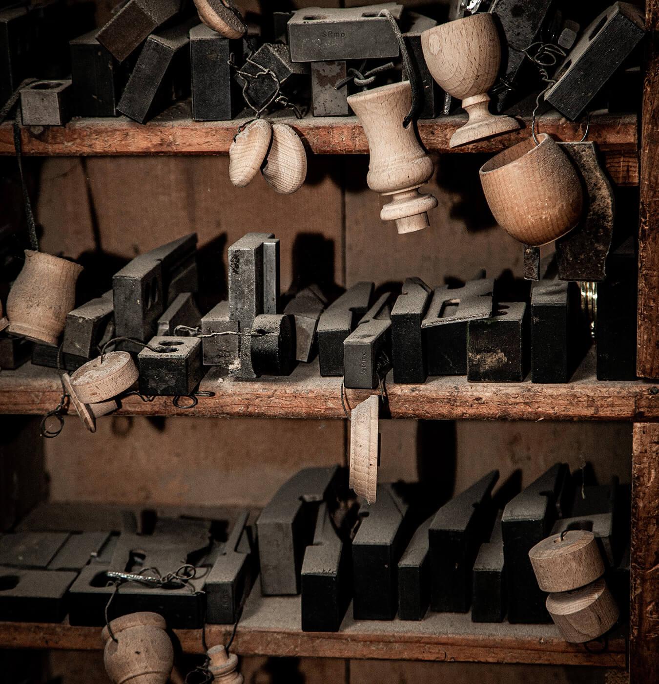 utensili e sagome per tornio, prodotti in legno tornito