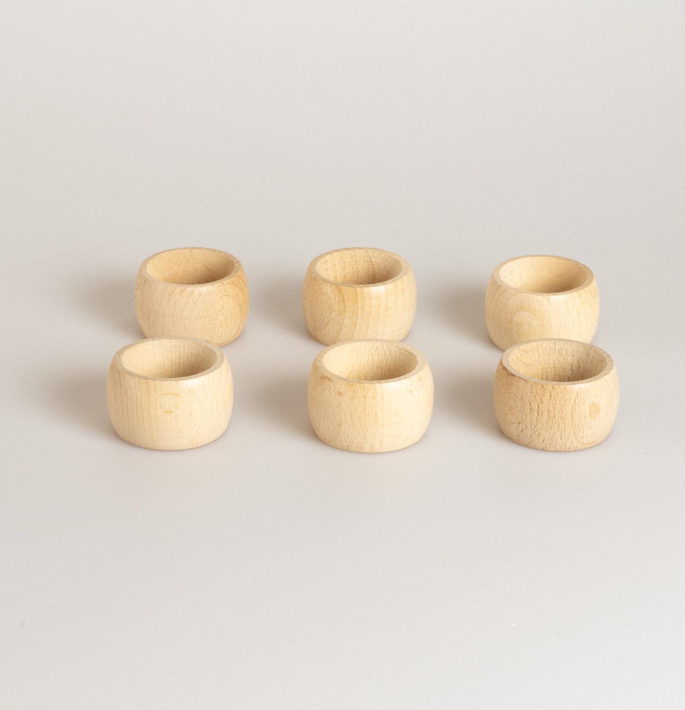 Legatovaglioli tondi in legno di faggio