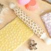 Mattarello decorativo inciso per decorare la pasta frolla