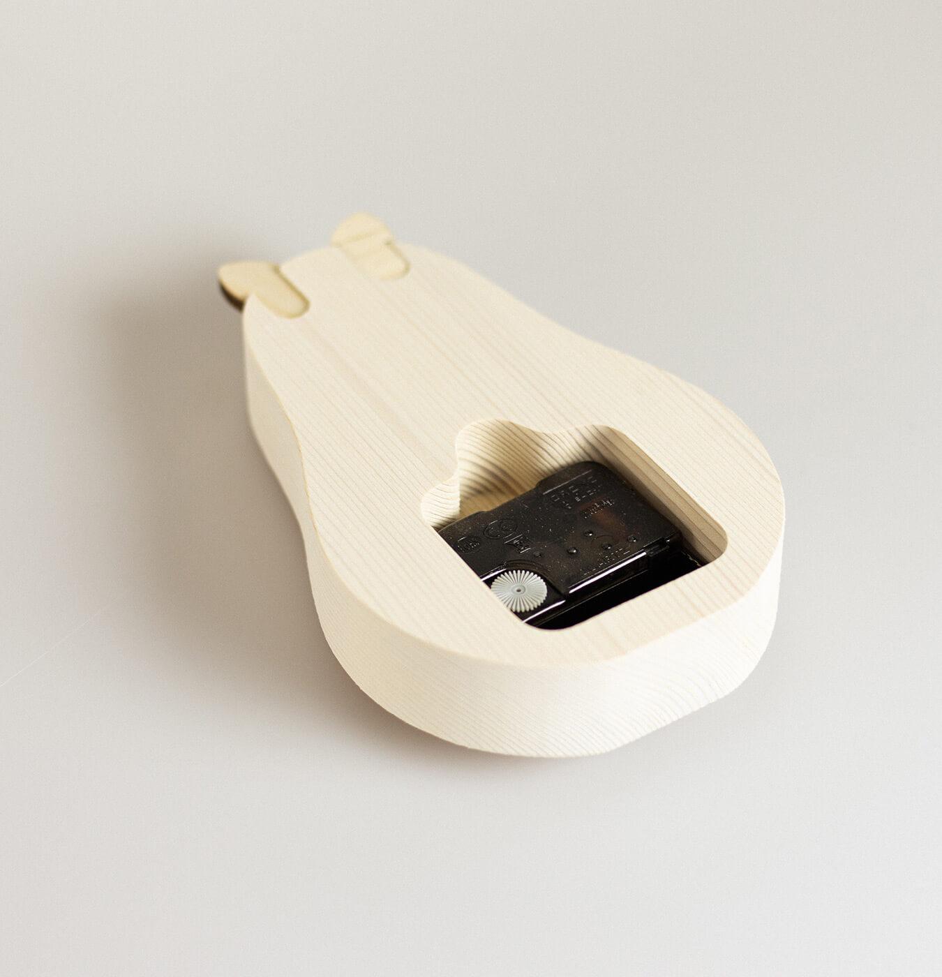 Orologio da tavolo in legno di abete
