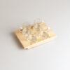 Portabicchierini vassoio per 4 bicchierini con decorazione incisa