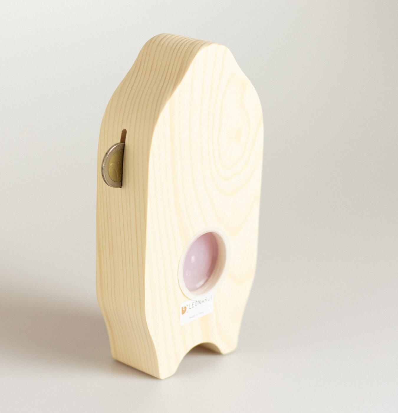 Salvadanio in legno di abete