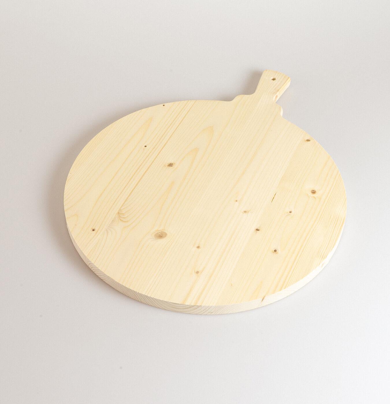 Tagliere polenta con manico diametro 40 cm in legno di abete