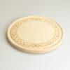 Tagliere tondo diametro 25 cm con decorazione incisa