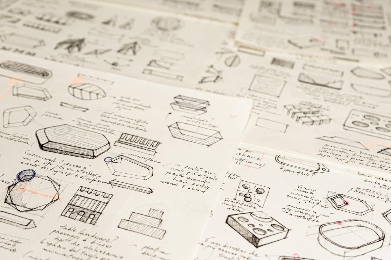 bozzetti progettuali, idee di prodotto