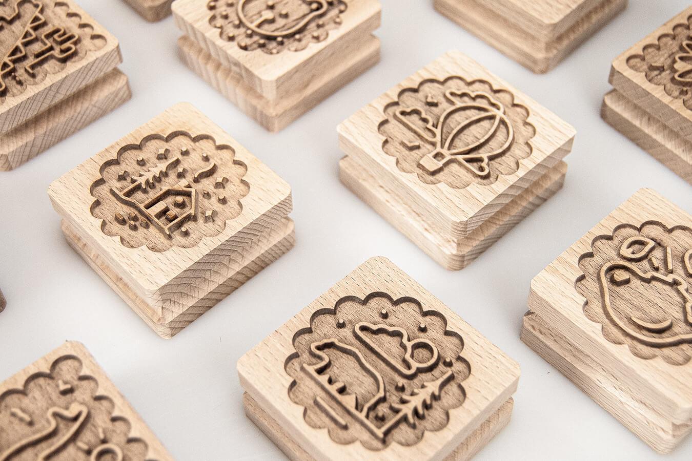 Stampo per biscotti in legno di faggio
