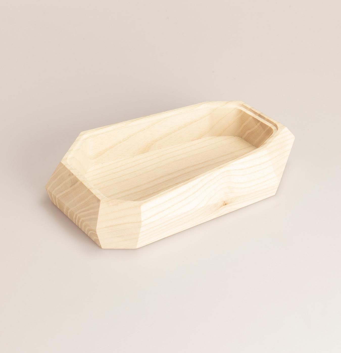 Contenitore in legno massiccio di frassino con coperchio in plexiglass sfumato colorato